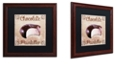 "Trademark Global Color Bakery 'Chocolate Therapy I' Matted Framed Art, 16"" x 16"""