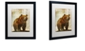 """Trademark Global Color Bakery 'Winter Game Three' Matted Framed Art, 16"""" x 20"""""""