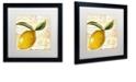 """Trademark Global Color Bakery 'Cafe D?Or Iv' Matted Framed Art, 16"""" x 16"""""""
