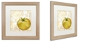 "Trademark Global Color Bakery 'Cafe D?Or Ix' Matted Framed Art, 16"" x 16"""