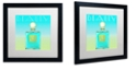 "Trademark Global Color Bakery 'Colored Scents I' Matted Framed Art, 16"" x 16"""