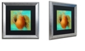"Trademark Global Color Bakery 'Glowing Fruits Iv' Matted Framed Art, 16"" x 16"""