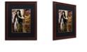 """Trademark Global Color Bakery 'Art Nouveau Zodiac Sagittarius' Matted Framed Art, 16"""" x 20"""""""