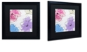 """Trademark Global Color Bakery 'Kasumi Four' Matted Framed Art, 16"""" x 16"""""""