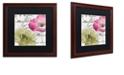 "Trademark Global Color Bakery 'Fleurs De France Iv' Matted Framed Art, 16"" x 16"""