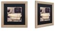 "Trademark Global Color Bakery 'Le Bain Paris I' Matted Framed Art, 16"" x 16"""
