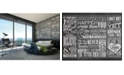 Brewster Home Fashions Chalk Quotes Wall Mural