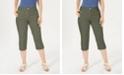 Karen Scott Petite Button-Hem Capri Pants, Created for Macy's