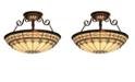 ELK Lighting Diamond Ring 3-Light Semi-Flush in Burnished Copper