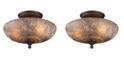 ELK Lighting Norwich 3-Light Semi-Flush in Oiled Bronze