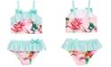 Penelope Mack Toddler Girls 2-Pc. Floral-Print Swimsuit
