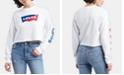 Levi's Cropped Graphic-Print Sweatshirt