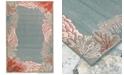 """Liora Manne' Riviera 7638 Reef Border 7'10"""" Indoor/Outdoor Round Area Rug"""