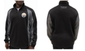 G-III Sports Men's Pittsburgh Steelers Offsetting Penalty Quarter-Zip Pullover