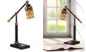Dale Tiffany Myriad Mosaic Desk Lamp With Wireless, Usb Charger