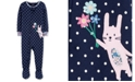 Carter's Baby Girls Bunny Rabbit Cotton Footed Pajamas
