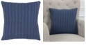 """Rizzy Home 18"""" x 18"""" Cable Knit Down Filled Pillow"""