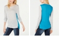INC International Concepts I.N.C. Two-Toned Colorblock Sweater, Created for Macy's