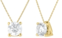 """Macy's Diamond Solitaire 18"""" Pendant Necklace (1 ct. t.w.) in 14k Gold"""