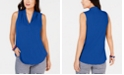 Charter Club Petite Pleated Top, Created for Macy's