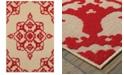 """Oriental Weavers Cayman 097R9 Sand/Red 1'10"""" x 3'3"""" Indoor/Outdoor Area Rug"""