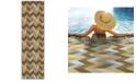 """Oriental Weavers Bali 4902X Gray/Multi 7'10"""" x 7'10"""" Indoor/Outdoor Runner Area Rug"""