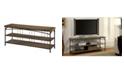 "Furniture of America Madeline II 60"" Metal TV Stand"