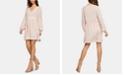 BCBGeneration Lattice-Trim Peasant Dress
