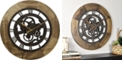 """Firstime and Co. 19"""" Wood Gear Wall Clock"""