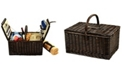 Picnic At Ascot Surrey Willow Picnic Basket with Blanket - Service for 2