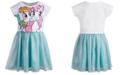 My Little Pony Little Girls Graphic-Print Mesh Dress