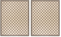 Safavieh Linden Creme and Brown 8' x 10' Area Rug