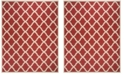 Safavieh Linden Red and Creme 8' x 10' Area Rug
