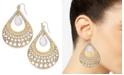Thalia Sodi Gold-Tone Pavé & Stone Open Teardrop Earrings, Created for Macy's