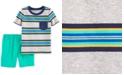 Carter's Baby Boys 2-Pc. Stripe Cotton T-Shirt & Shorts Set