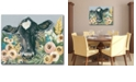 """Courtside Market Cow in The Flower Garden Gallery-Wrapped Canvas Wall Art - 16"""" x 20"""""""