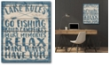 """Courtside Market Lake Rules Gallery-Wrapped Canvas Wall Art - 16"""" x 20"""""""