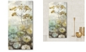 """Courtside Market Golden flower I Gallery-Wrapped Canvas Wall Art - 12"""" x 24"""""""