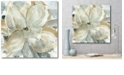 """Courtside Market Crean Petals Gallery-Wrapped Canvas Wall Art - 16"""" x 16"""""""