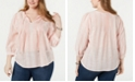 Tommy Hilfiger Plus Size Gauze Pintuck Top, Created for Macy's