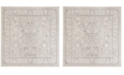"Safavieh Reflection Light Gray and Cream 6'7"" x 6'7"" Square Area Rug"