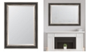 "Melissa Van Hise Black with Silver Emboss Framed Mirror - 30.25"" x 42.25"" x 2"""