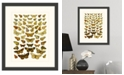 "Melissa Van Hise Butterfly Charts IV Framed Giclee Wall Art - 15"" x 18"" x 2"""