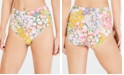 kate spade new york Floral-Dot High-Waist Bikini Bottoms