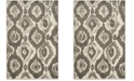 Safavieh Porcello Ivory and Dark Gray 3' x 5' Area Rug