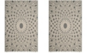 Safavieh Courtyard Anthracite and Beige 8' x 11' Sisal Weave Area Rug