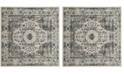 Safavieh Evoke Gray and Ivory 9' x 9' Square Area Rug