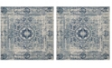 "Safavieh Evoke Ivory and Blue 5'1"" x 5'1"" Square Area Rug"