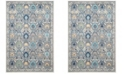 "Safavieh Evoke Ivory and Gray 6'7"" x 6'7"" Square Area Rug"