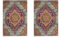 Safavieh Madison Light Gray and Fuchsia 4' x 6' Area Rug